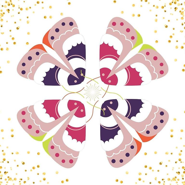 Photons et Papillon-Décor vacances toussaint.