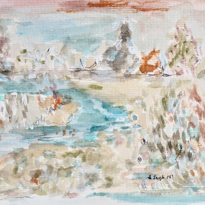 By the Creek by Shelby Leigh Mixed Media