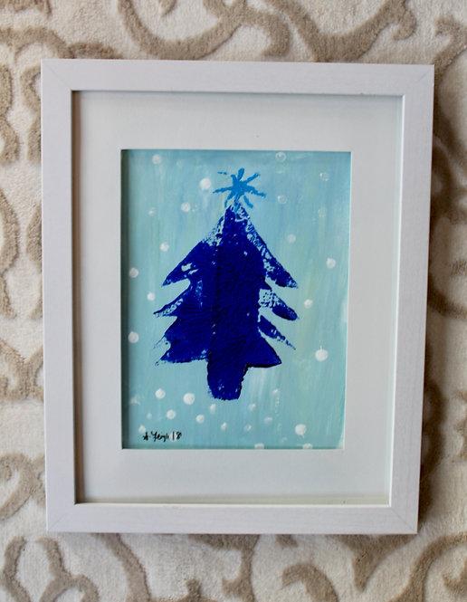 Hand-Printed Christmas Trees
