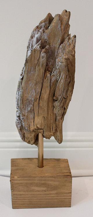 Small Gold Drift Wood Sculpture