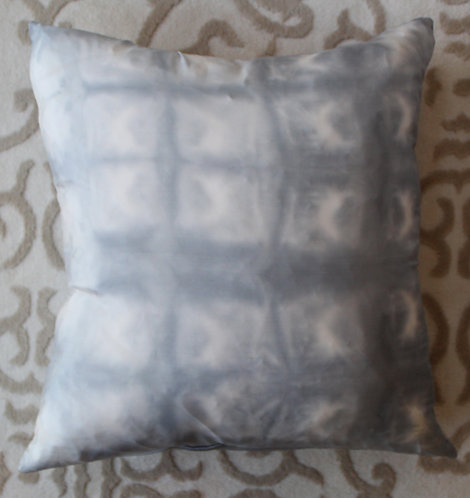 Gray-Blue Shibori Grid