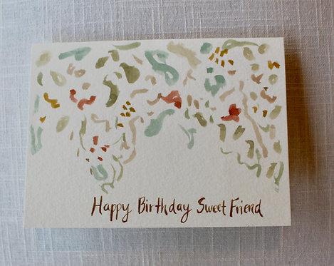 Happy Birthday Sweet Friend