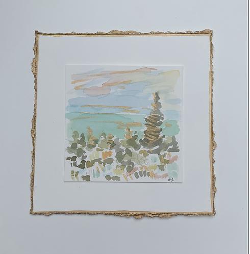 """""""Lake Tahoe"""" (x2 paintings)"""