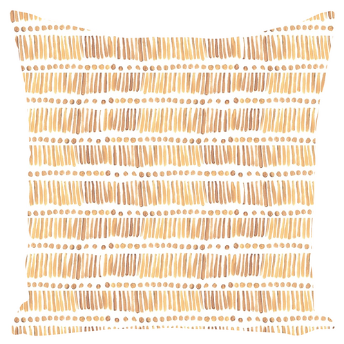 Yellow Lines and Dots Pillow