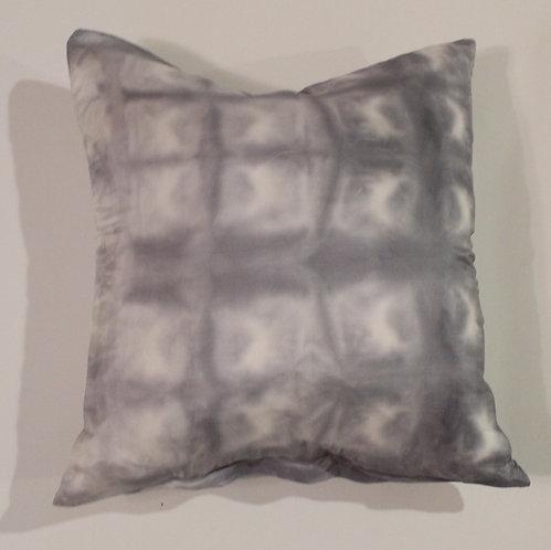 Blue-Gray Grid Silk