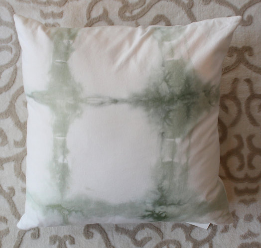 Light Olive Shibori Grid