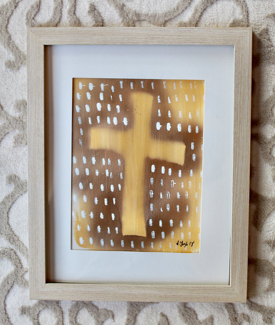 Hand-Printed Cross