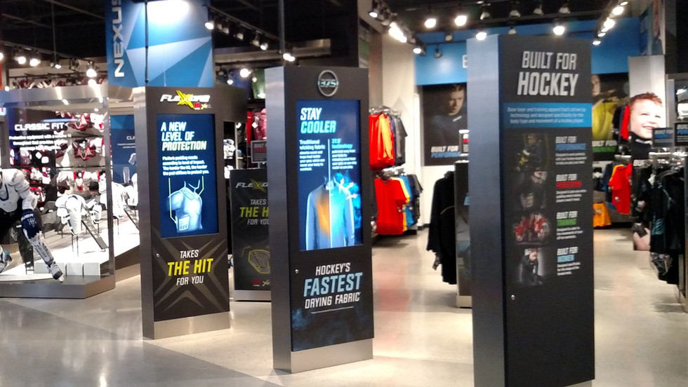 Bauer Own The Moment Concept Store Kiosks