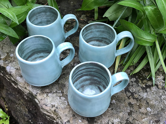 ceramics by judith walker - handmade stoneware ceramic mugs - drink from, cook in, admire - art for everyday