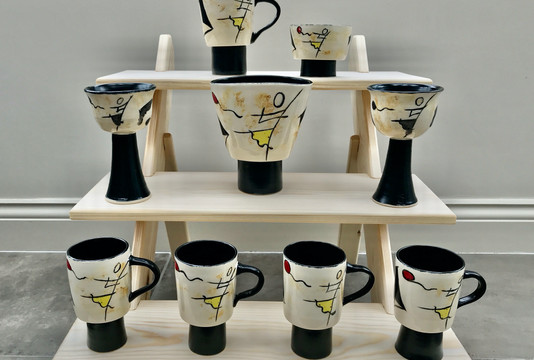 'Down *** Not Out' ceramics