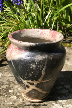Wood fired copper flamed vessel