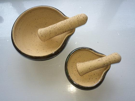 ceramics by judith walker - handmade stoneware ceramic mortar & pestle set - grind, cook, admire - art for everyday