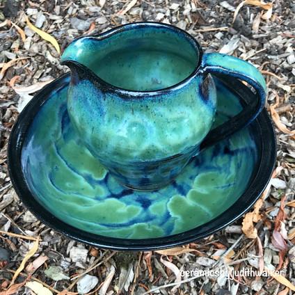 Deep Waters jug and bowl