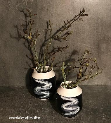 ceramics by judith walker - hand-thrown monochrome stoneware ceramic vases - art for everyday