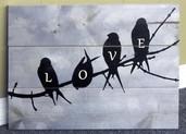 Love Bird Printed Pallet