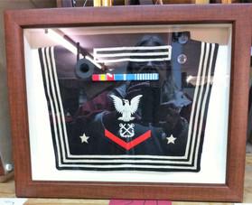 Navy Flap Collar