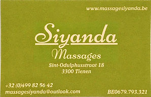 spaarkaart massage siyanda