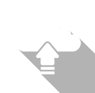 An icon showing an arrow going up into a cloud representing uploading data.