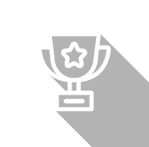 An icon of a trophy with a star in the middle.