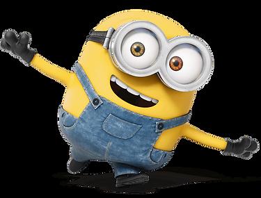 A small smiling minion