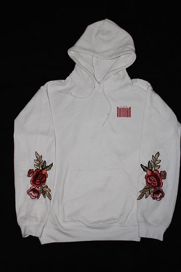 'Ascend' White hoodie