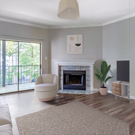 Living room Virtual Staging
