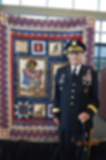 Proud recipient of a Quilt of Valor.