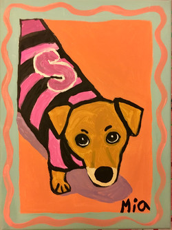 Dog with Sweater by Mia