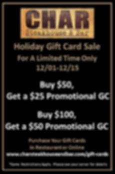 Holiday 2018 Promo Gift Card Table Toppe