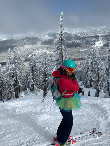 skiing at Mt Bachelor, OR