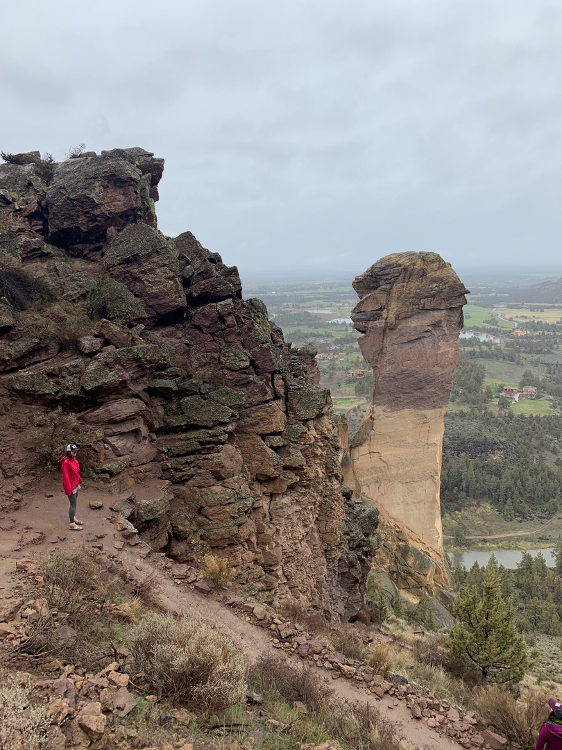 hiking around Smith Rock State Park, OR