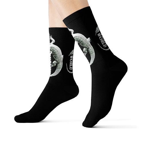 Blizzard Blue Tegu Lizard Socks, Tegu, Lizard Socks, Tegu World