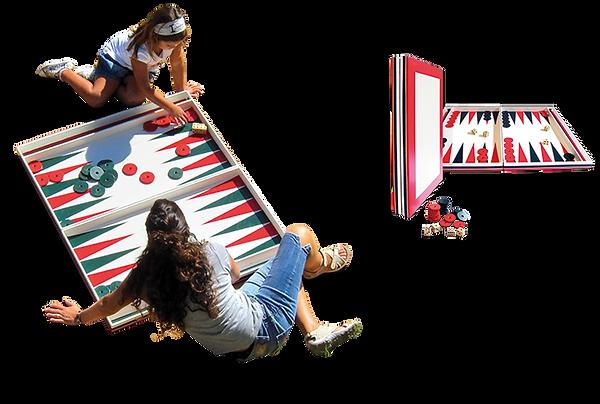 Backgammon gigante