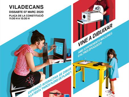 Exposició interactiva d'instruments de dibuix a Viladecans  07/03/2020
