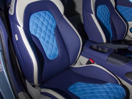 Синий салон Ауди R8