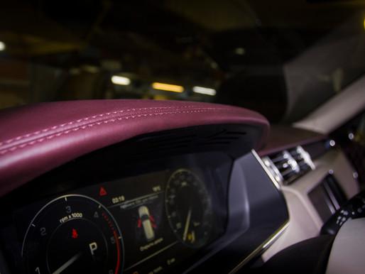 Вишневый салон Range Rover