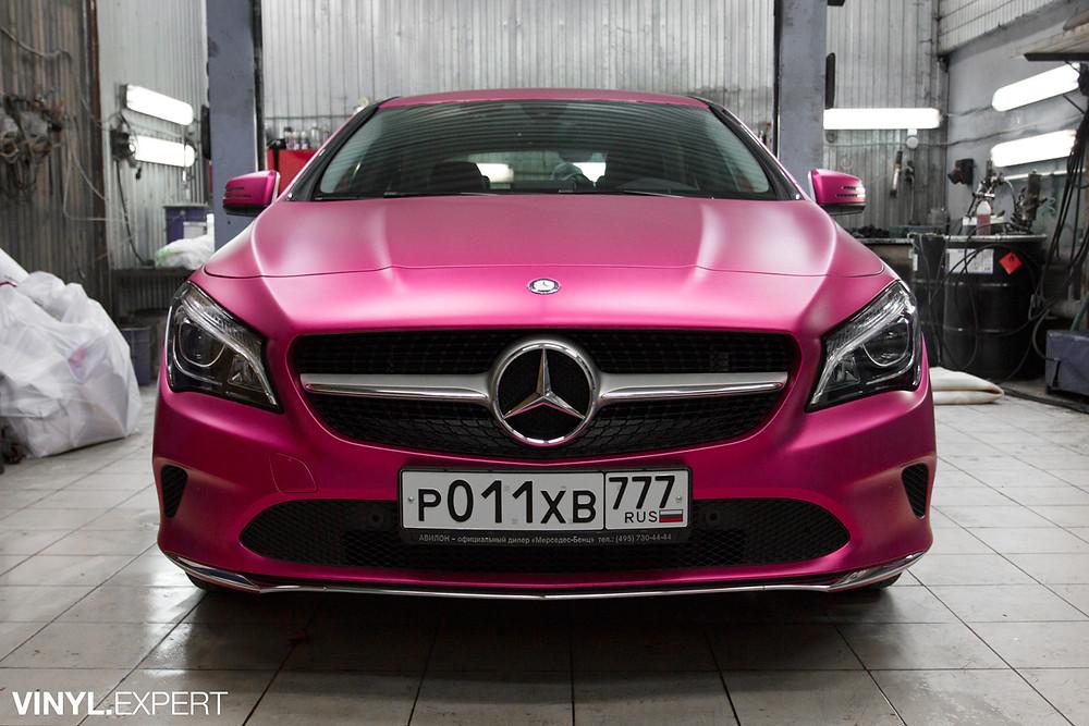 Оклейка Mercedes-Benz CLA виниловой плёнкой