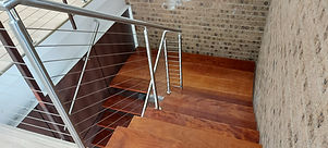 Stair wire rope balustrades.