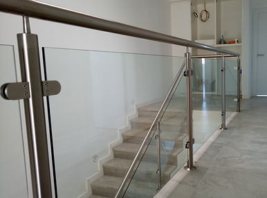 Glass balustrade frame