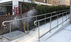 Ramp Balustrades and handrail.