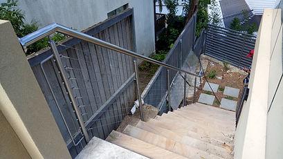 Wire balustrades.