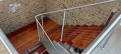 stairs wire rope balustrade.