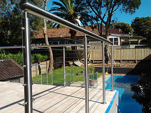 stainless steel wire balustrades.