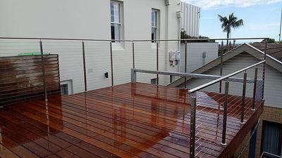 Square wire balustrade.