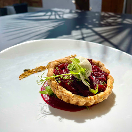 Caramelised Red Onion and Beetroot Tart