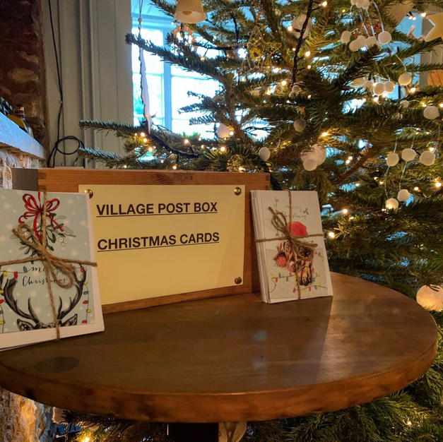 Village Christmas Post Box