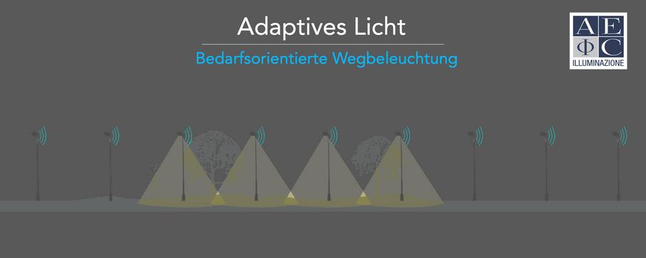 Adaptives Licht auf Straßen und Wegen