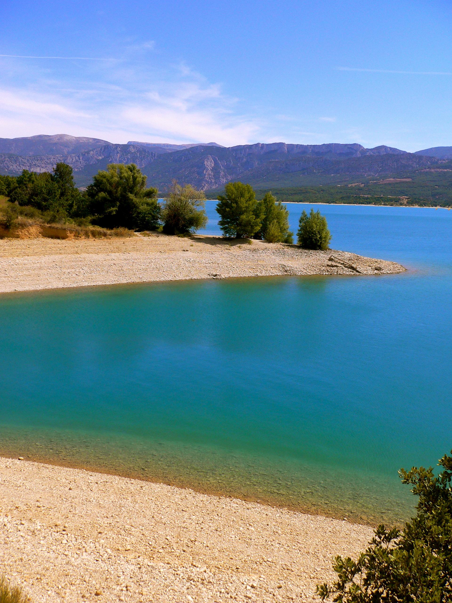 magnifique plage du lac de ste croix