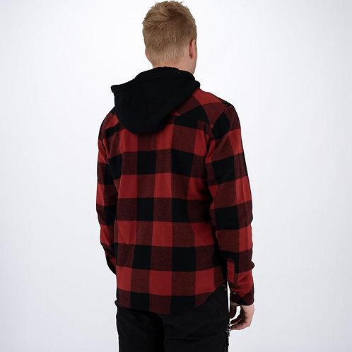 FXR flanell skjorte med hette for herre