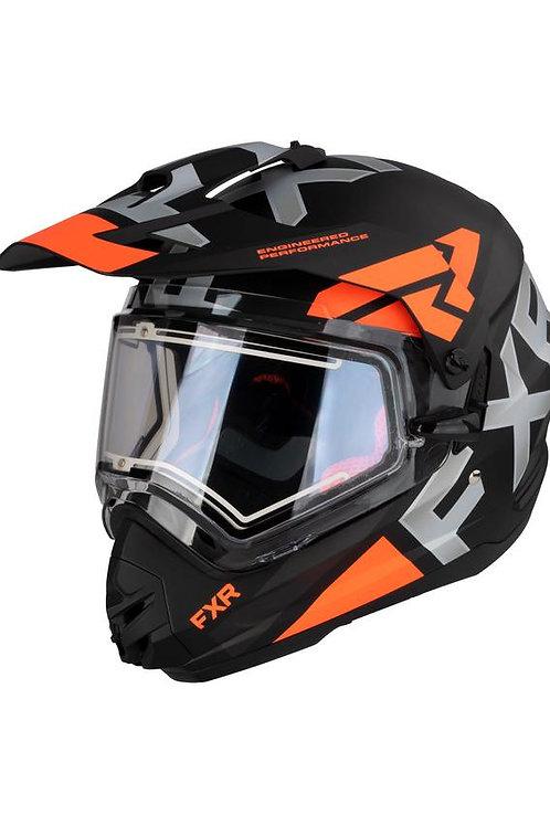 FXR Torque hjelm med elektrisk visir og solskjerm